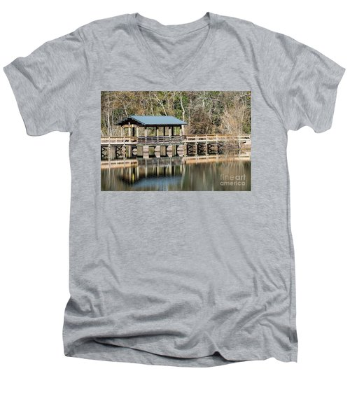 Brick Pond Park - North Augusta Sc Men's V-Neck T-Shirt