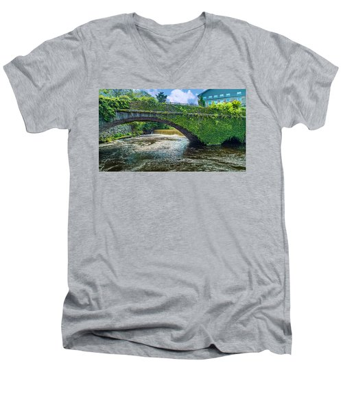 Bridge Of Flowers Men's V-Neck T-Shirt