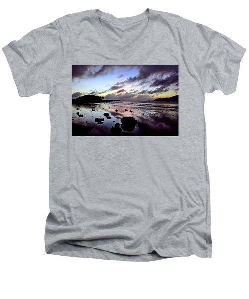 Bright Mirror Of Sunset Light Men's V-Neck T-Shirt