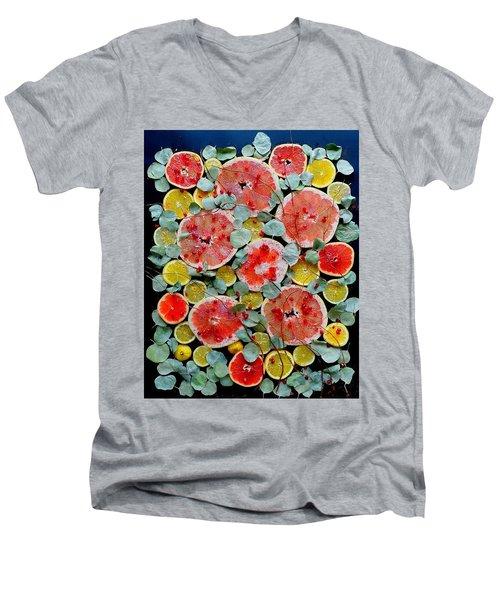 Brighter Days Citrus Men's V-Neck T-Shirt