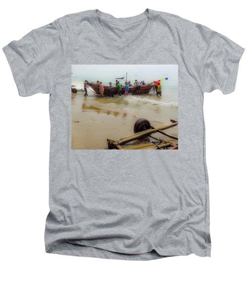 Bringing In The Catch Men's V-Neck T-Shirt