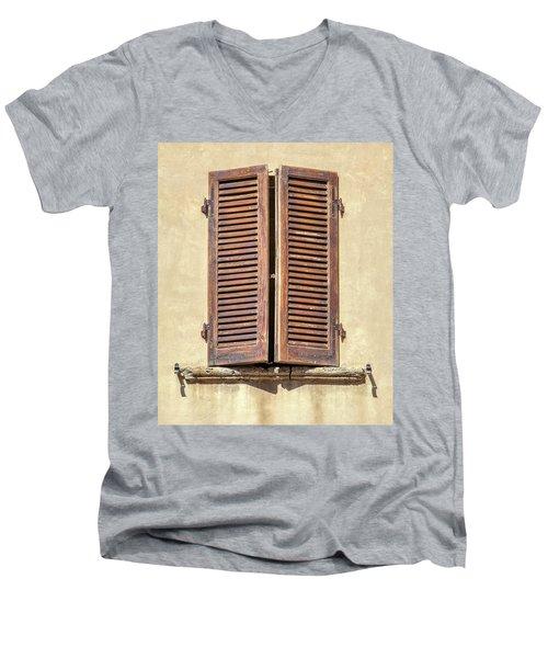 Brown Window Of Florence Men's V-Neck T-Shirt
