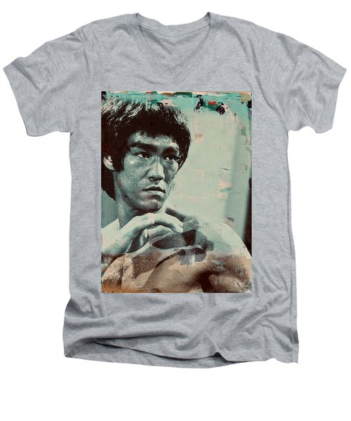Bruce Lee Men's V-Neck T-Shirt