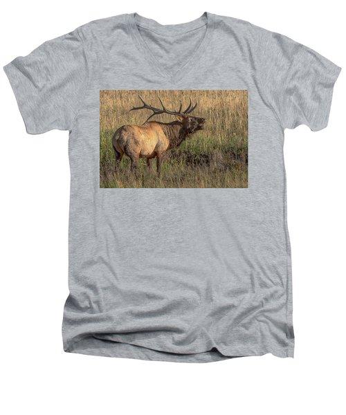 Bugling Bull Elk 7777 Men's V-Neck T-Shirt