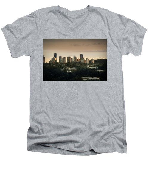 Burnaby Dusk Men's V-Neck T-Shirt