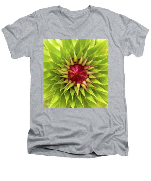 Burst Of Lime Men's V-Neck T-Shirt