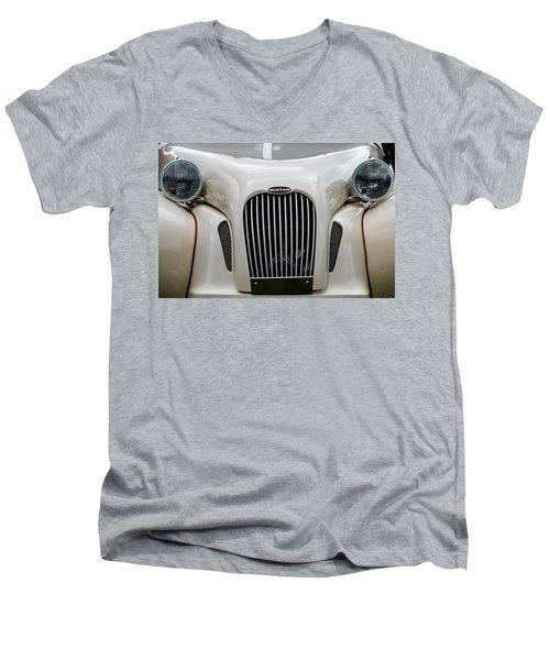 Men's V-Neck T-Shirt featuring the photograph Burton by Anjo Ten Kate