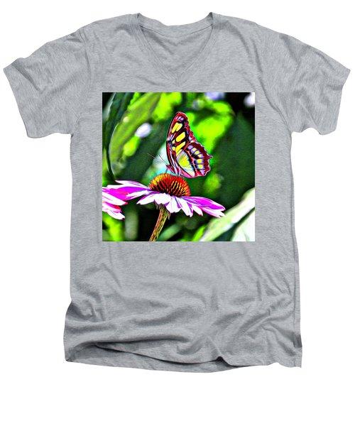 Butterfly Glow Men's V-Neck T-Shirt