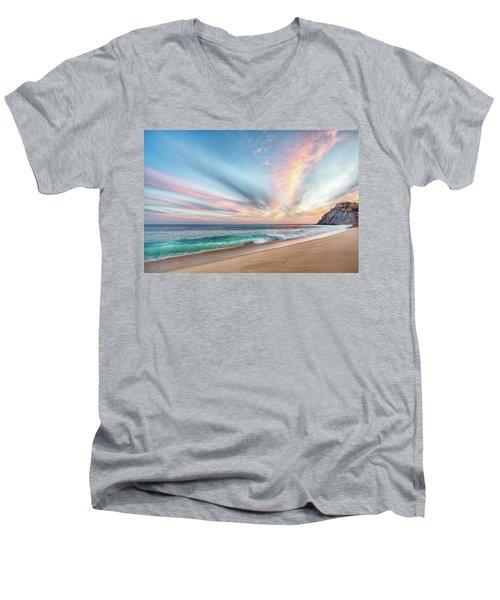 Cabo San Lucas Beach Wave Sunset Men's V-Neck T-Shirt