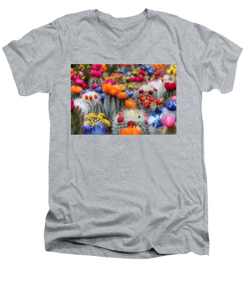 Cacti Flowers Men's V-Neck T-Shirt