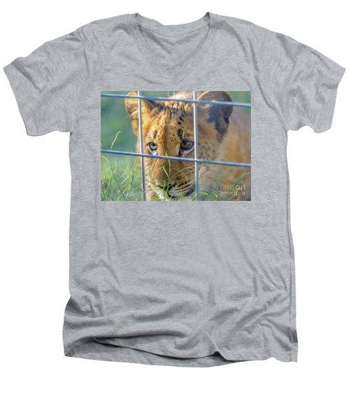 Caged Men's V-Neck T-Shirt