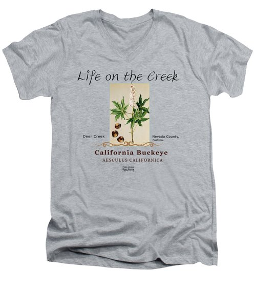California Buckeye Men's V-Neck T-Shirt