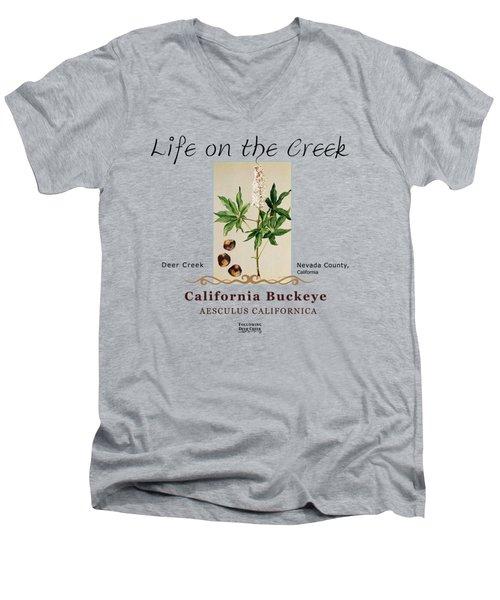 California Buckeye Men's V-Neck T-Shirt