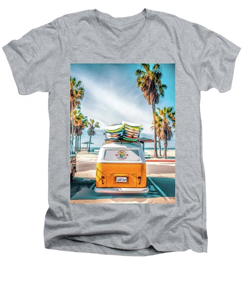 California Surfer Van Men's V-Neck T-Shirt
