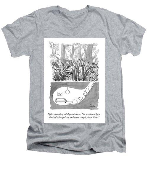 Calming Decor Men's V-Neck T-Shirt