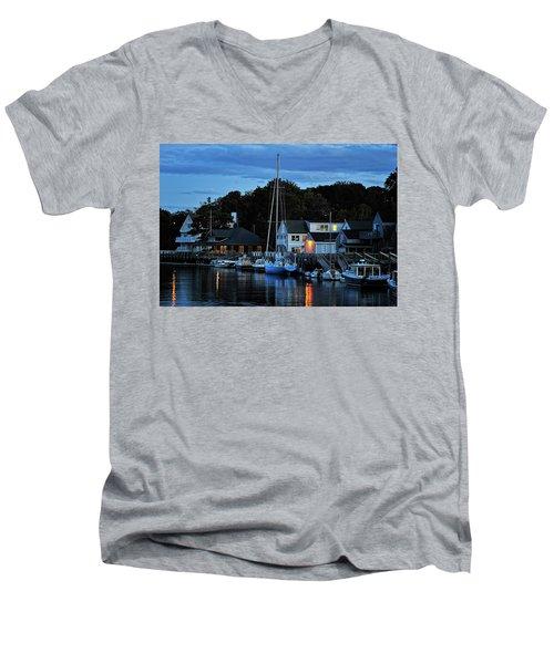 Camden Maine Twightlight Men's V-Neck T-Shirt