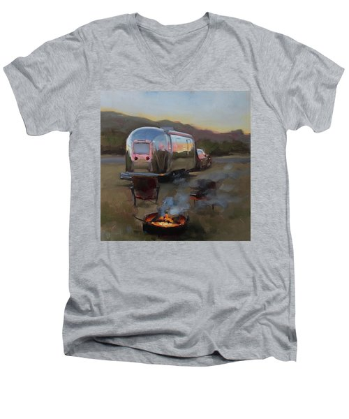 Campfire At Palo Duro Men's V-Neck T-Shirt