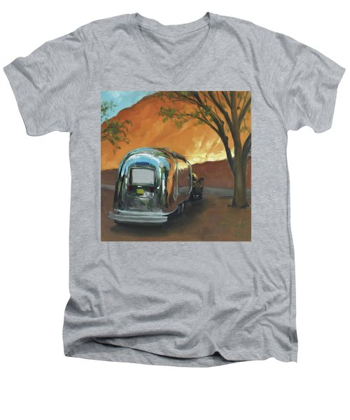 Camping At The Red Rocks Men's V-Neck T-Shirt