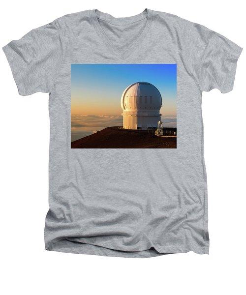 Canada-france-hawaii Telescope Men's V-Neck T-Shirt