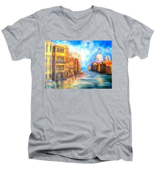 Canale Grande Men's V-Neck T-Shirt