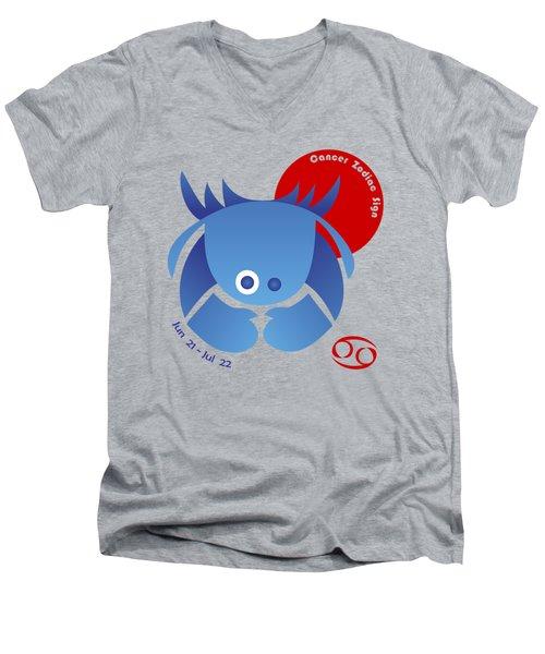 Cancer - Crab Men's V-Neck T-Shirt