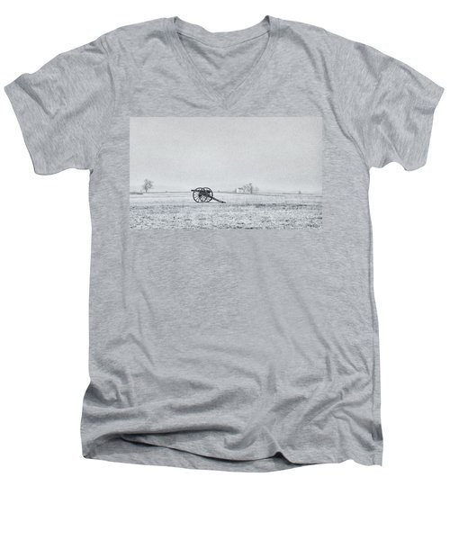Cannon Out In The Field Men's V-Neck T-Shirt
