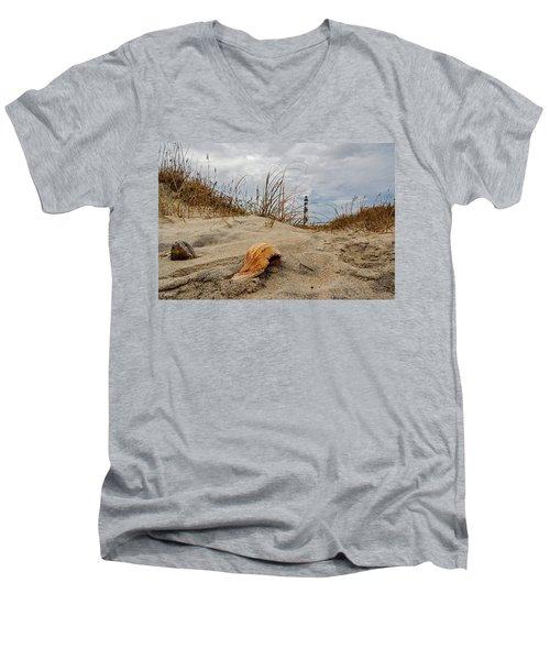 Cape Lookout Lighthouse Men's V-Neck T-Shirt