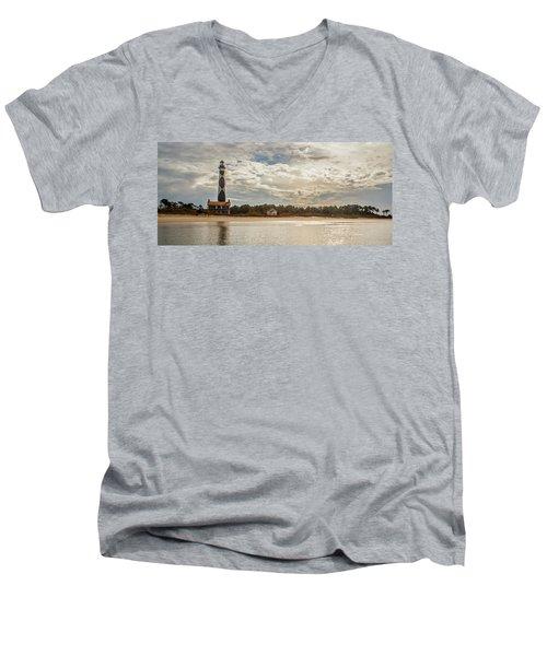 Cape Lookout Lighthouse No. 3 Men's V-Neck T-Shirt
