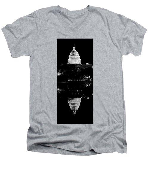 Capitol Upside Down Men's V-Neck T-Shirt