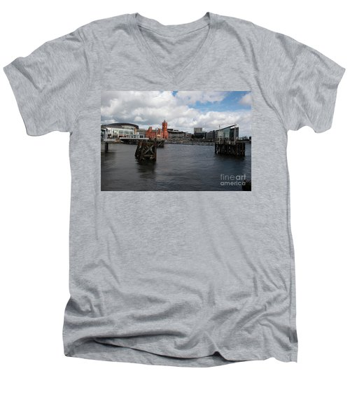 Cardiff Bay  Men's V-Neck T-Shirt