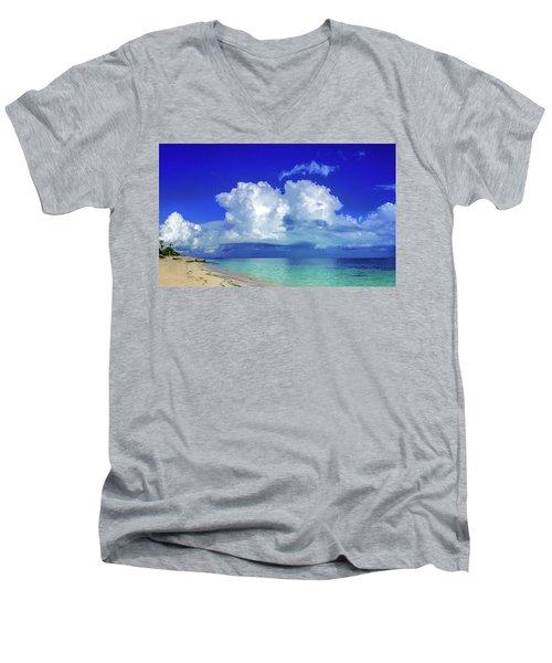 Caribbean Clouds Men's V-Neck T-Shirt