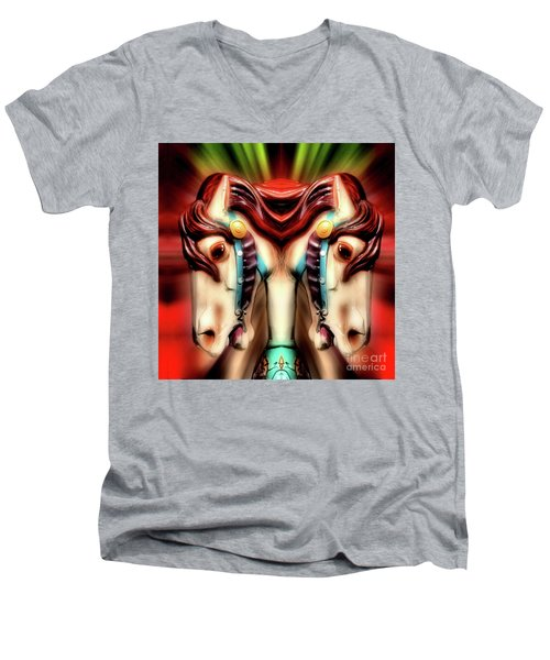 Carousel Horse Abstract Men's V-Neck T-Shirt