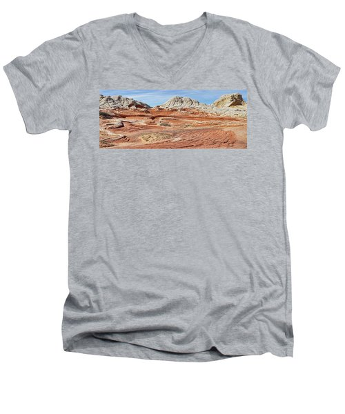 Carved In Stone Pano 2 Men's V-Neck T-Shirt