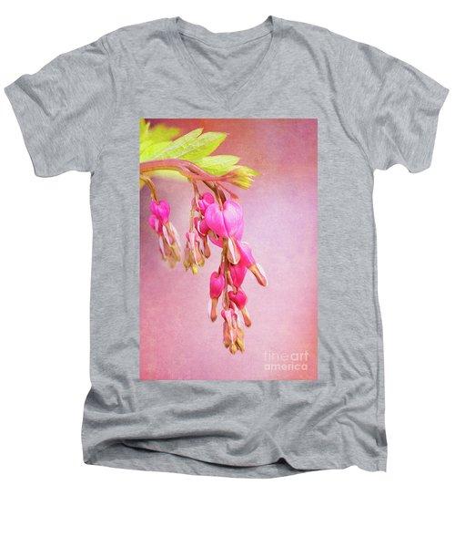 Cascading Bleeding Hearts Men's V-Neck T-Shirt