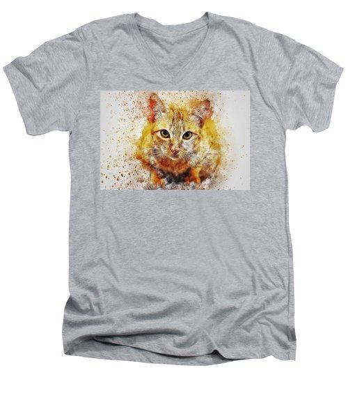 Cat's Eye Men's V-Neck T-Shirt