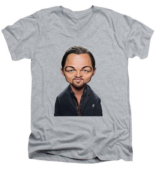 Celebrity Sunday - Leonardo Dicaprio Men's V-Neck T-Shirt