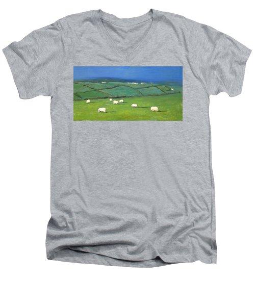 Celtic Sheep Men's V-Neck T-Shirt