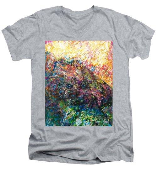 Chanel Men's V-Neck T-Shirt