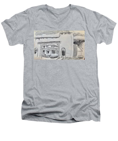Charcoal Pencil Arch.jpg Men's V-Neck T-Shirt