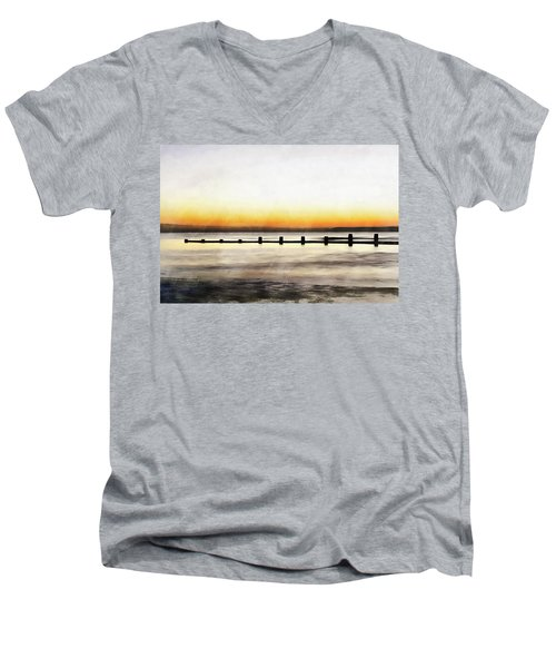 Men's V-Neck T-Shirt featuring the painting Chesapeake by Harry Warrick