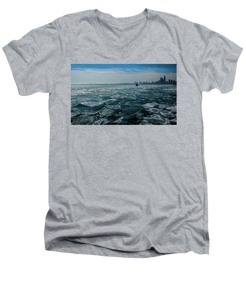 Chicago In Winter Men's V-Neck T-Shirt