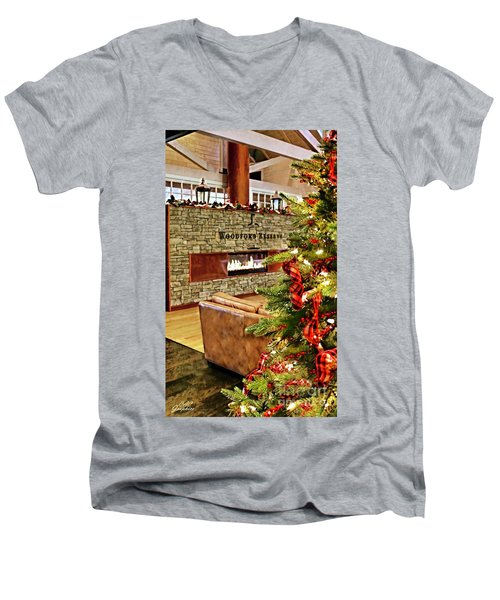 Christmas At Woodford Reserve Men's V-Neck T-Shirt