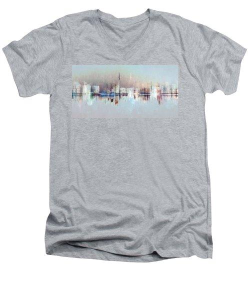 City Of Pastels Men's V-Neck T-Shirt