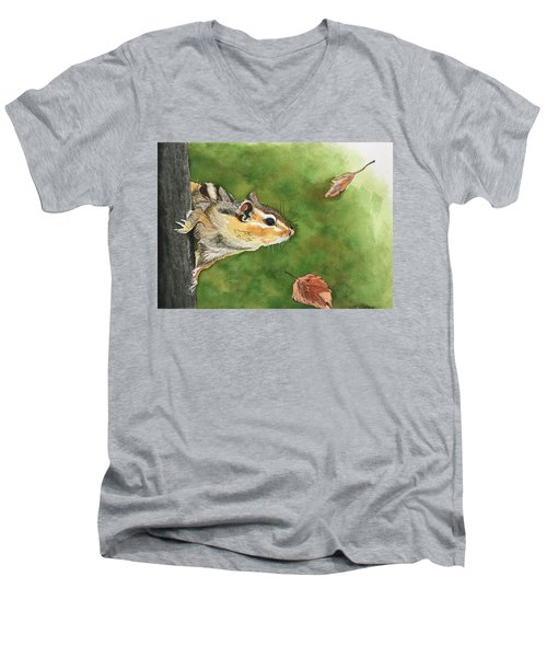 Clinging On To Fall Men's V-Neck T-Shirt