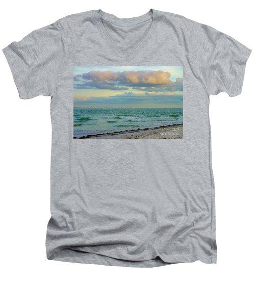 Clouds Over Sanibel Beach Men's V-Neck T-Shirt