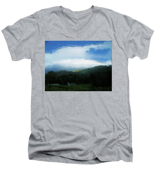 Cloudy View Painting Men's V-Neck T-Shirt