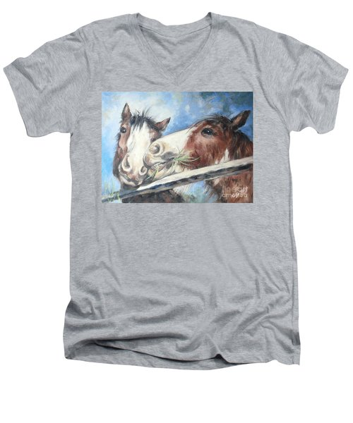 Clydesdale Pair Men's V-Neck T-Shirt