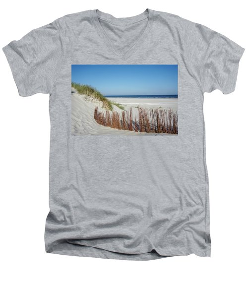 Men's V-Neck T-Shirt featuring the photograph Coast Ameland by Anjo Ten Kate