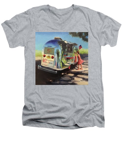 Coffee In The Shade Men's V-Neck T-Shirt