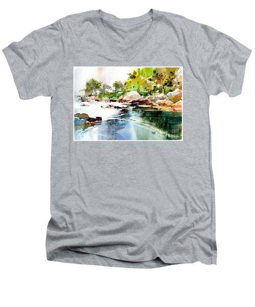 Cohasset Rapids Men's V-Neck T-Shirt
